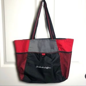 Starbucks Coffee Tote Bag red black
